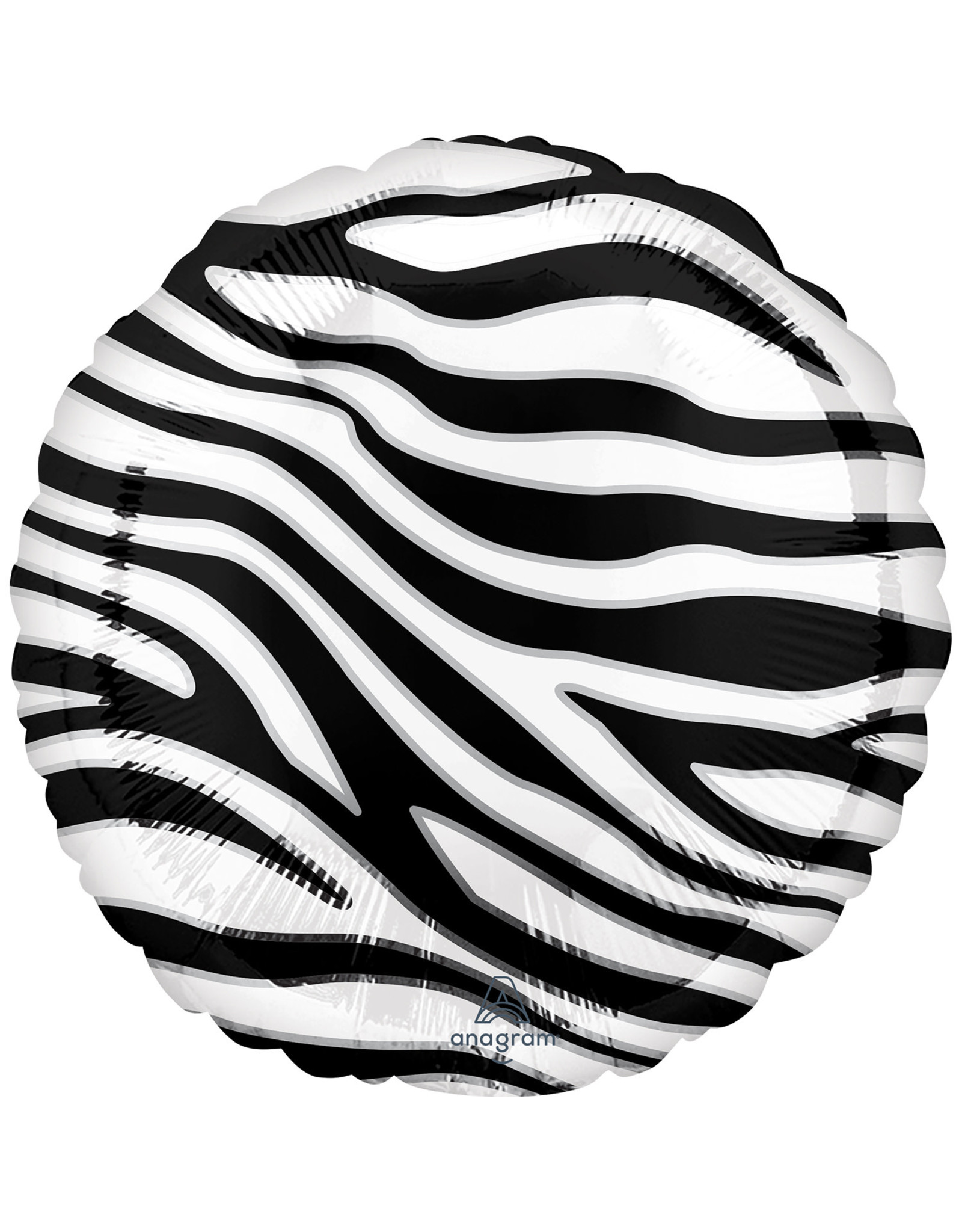 Amscan folieballon zebraprint 43 cm