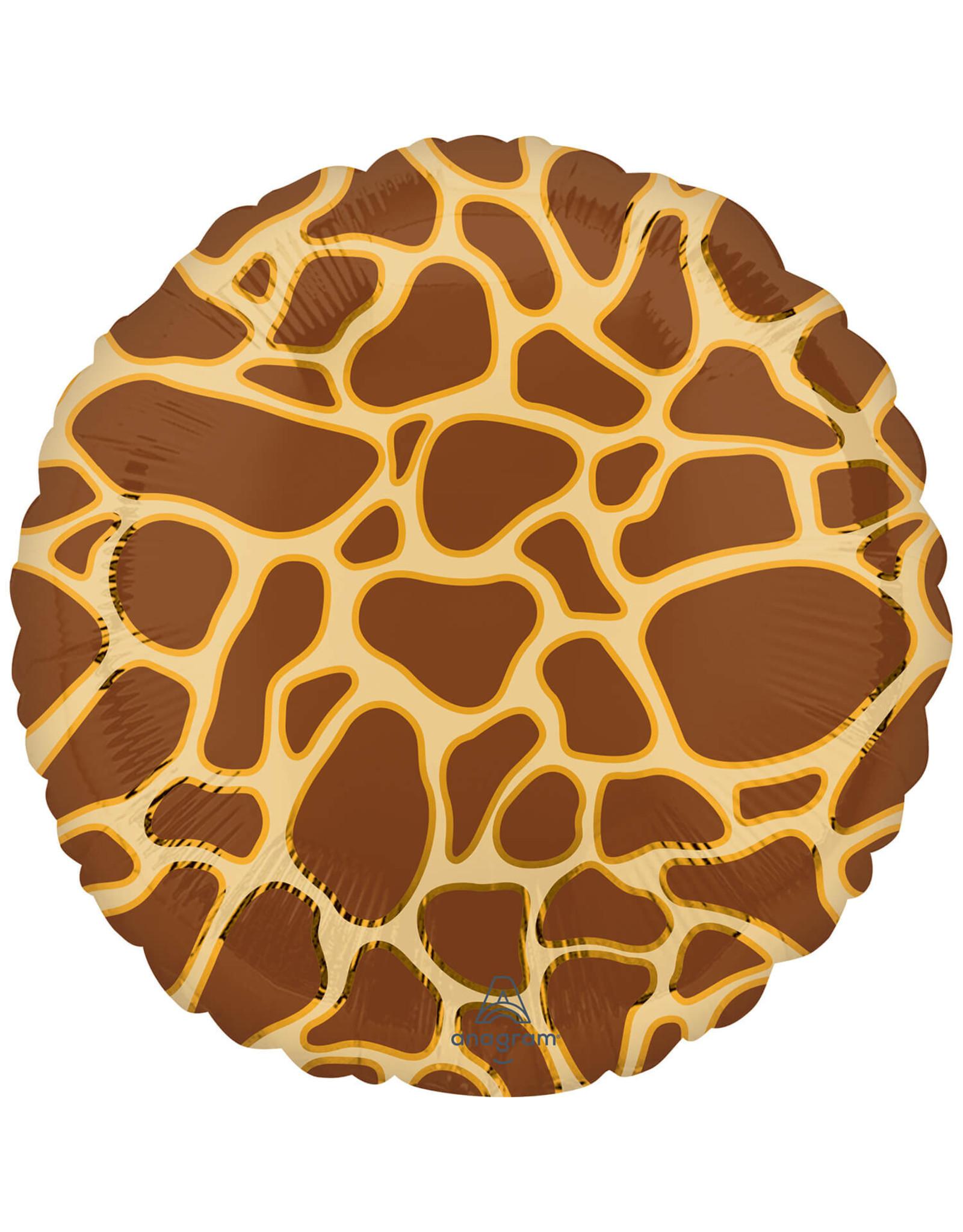 Amscan folieballon giraffeprint 43 cm