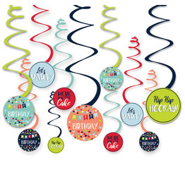 Amscan reason to celebrate hangdecoratie 12-delig