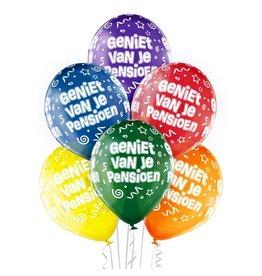 Belbal latex ballonnen geniet van je pensioen 6 stuks