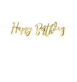 Happy birthday letterslinger goud