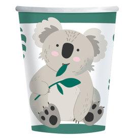 Koala kartonnen bekers 8 stuks 250 ml