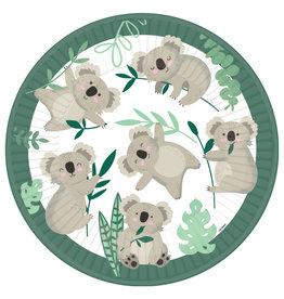 Amscan kartonnen borden koala 23 cm 8 stuks