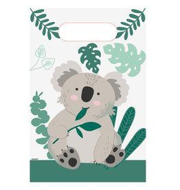 Amscan papieren uitdeelzakjes koala 8 stuks