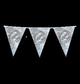 Party vlaggenlijn 25 jaar zilver 10 meter