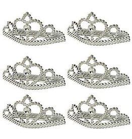 Tiara zilver 6 stuks