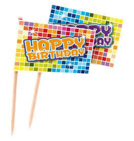 Party prikkers happy birthday 24 stuks