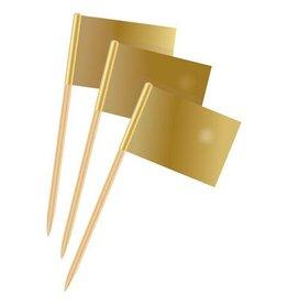 Party vlaggetjes goud 50 stuks