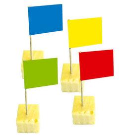 Party prikkers effen kleuren 50 stuks