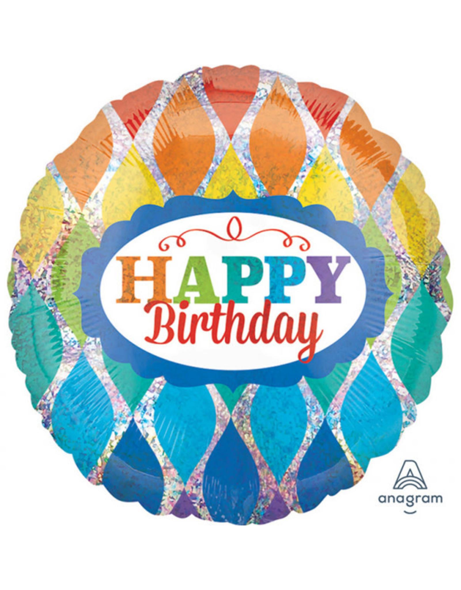 Amscan folieballon happy birthday glimmer 43 cm