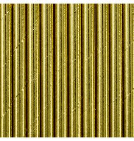 Papieren rietjes goud 10 stuks