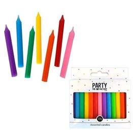 The party factory jumbo kaarsjes regenboog kleuren 13 stuks