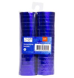 Folat serpentines blauw metallic 2x 18x 4 meter