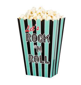 Boland popcornbakjes Rock & Roll 4 stuks