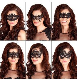 Boland oogmasker Masquerade zwart 1 stuk