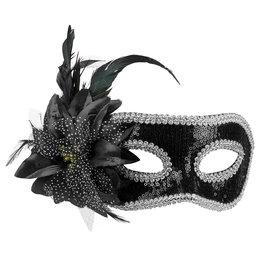 Boland oogmasker Venice fiore zwart 1 stuk