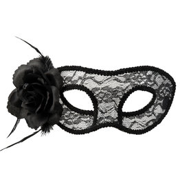 Boland oogmasker kanten Mystique zwart 1 stuk