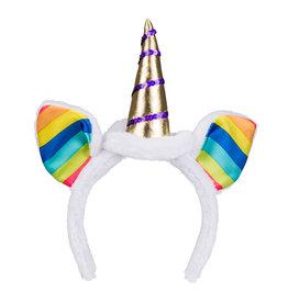 Boland tiara unicorn regenboog 1 stuk