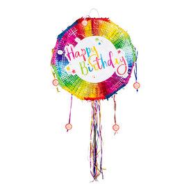 Boland pinata rond happy birthday 1 stuk