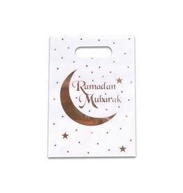 Uitdeelzakjes wit goud Ramadan Mubarak