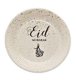 Borden Eid Mubarak rond 23 cm 8 stuks