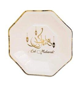 Borden Eid Mubarak 8-hoekig 23 cm 8 stuks
