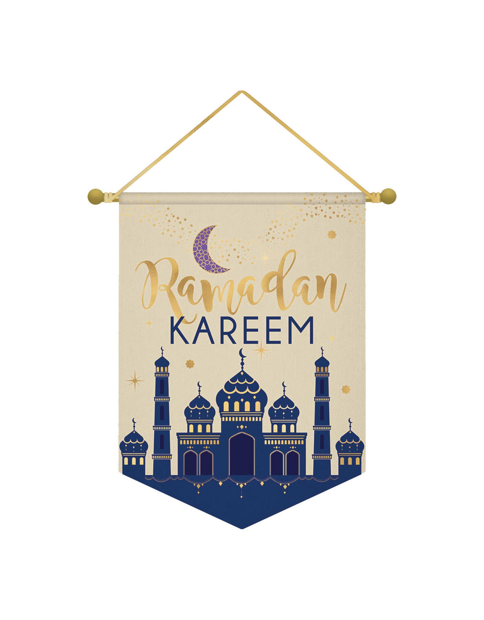 Amscan Ramadan Kareem katoenen vaandel