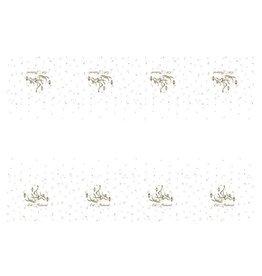 Tafelkleed wit goud Eid Mubarak 120 x 180 cm