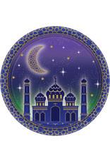 Amscan Eid Mubarak borden 18 cm 8 stuks