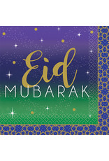 Amscan Eid Mubarak servetten 25 x 25 cm 16 stuks