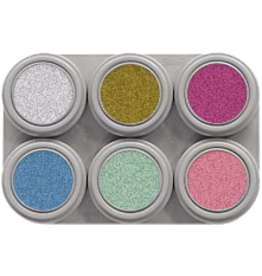 Grimas water make-up pearl pure palet 6-delig