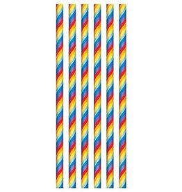 The party factory papieren rietjes regenboog 20 stuks