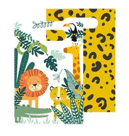 Amscan Get wild papieren uitdeelzakjes 8 stuks