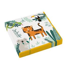 Amscan Get wild servetten 16 stuks 33 x 33 cm