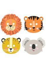 Amscan Get wild kartonnen maskers 8 stuks