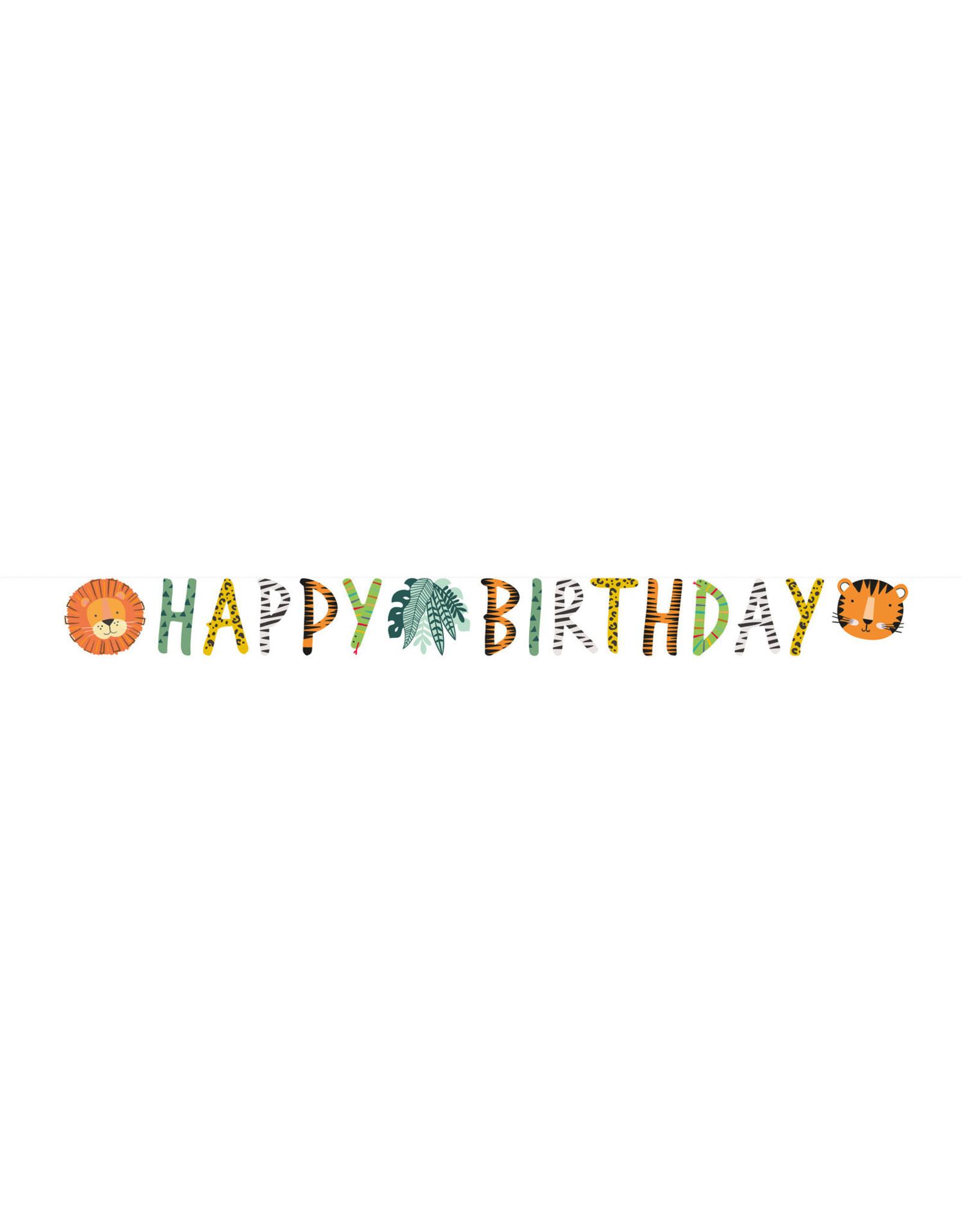 Amscan Get wild happy birthday letterslinger