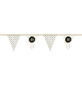 Vlaggenlijn festive gold 40 jaar 6 meter