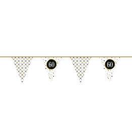 Vlaggenlijn festive gold 60 jaar 6 meter