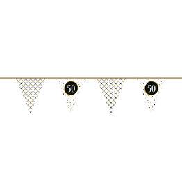 Vlaggenlijn festive gold 50 jaar 6 meter