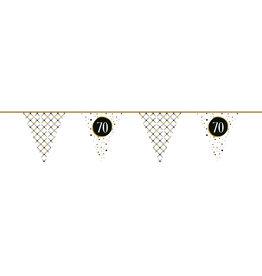 Vlaggenlijn festive gold 70 jaar 6 meter