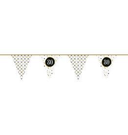 Vlaggenlijn festive gold 80 jaar 6 meter