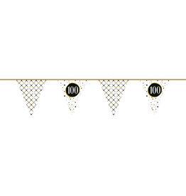 Vlaggenlijn festive gold 100 jaar 6 meter