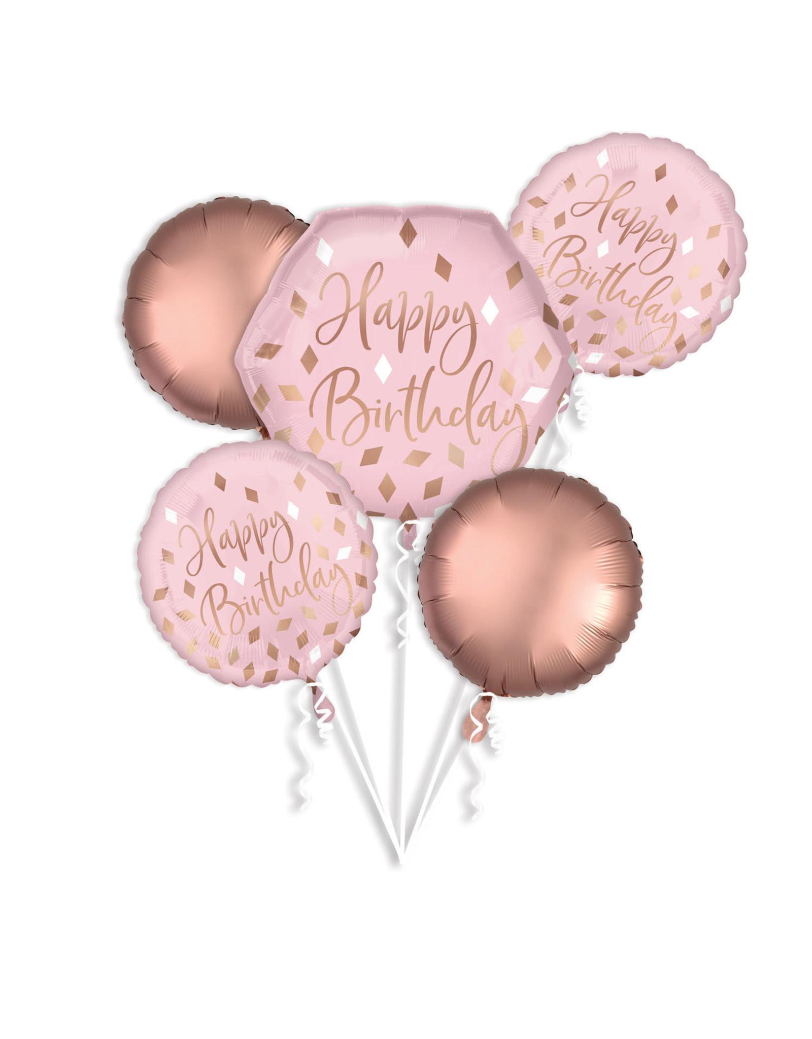 Amscan folieballonpakket rose gold blush 5-delig