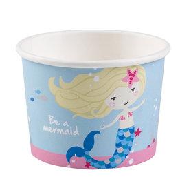 Amscan zeemeermin ijs cups 8 stuks