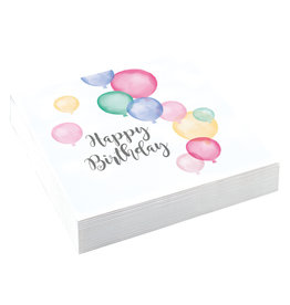 Amscan servetten happy birthday pastel 20 stuks