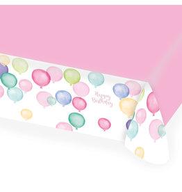 Amscan tafelkleed happy birthday pastel 1 stuk