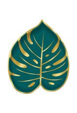 Amscan Key west palm leaf borden 8 stuks