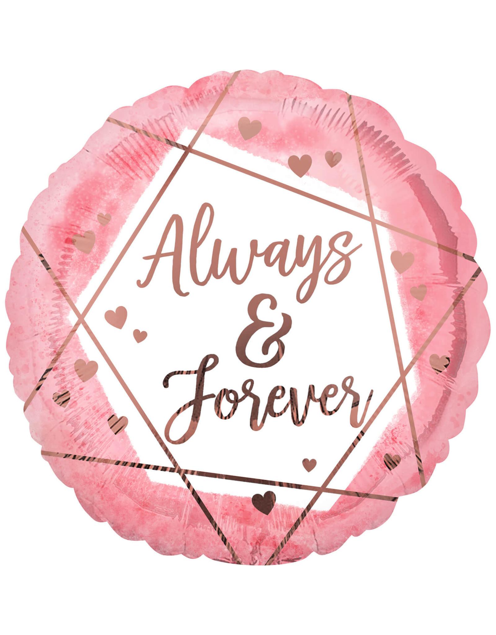 Amscan folieballon always & forever 43 cm