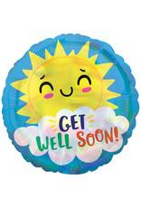 Amscan folieballon iridescent get well soon!