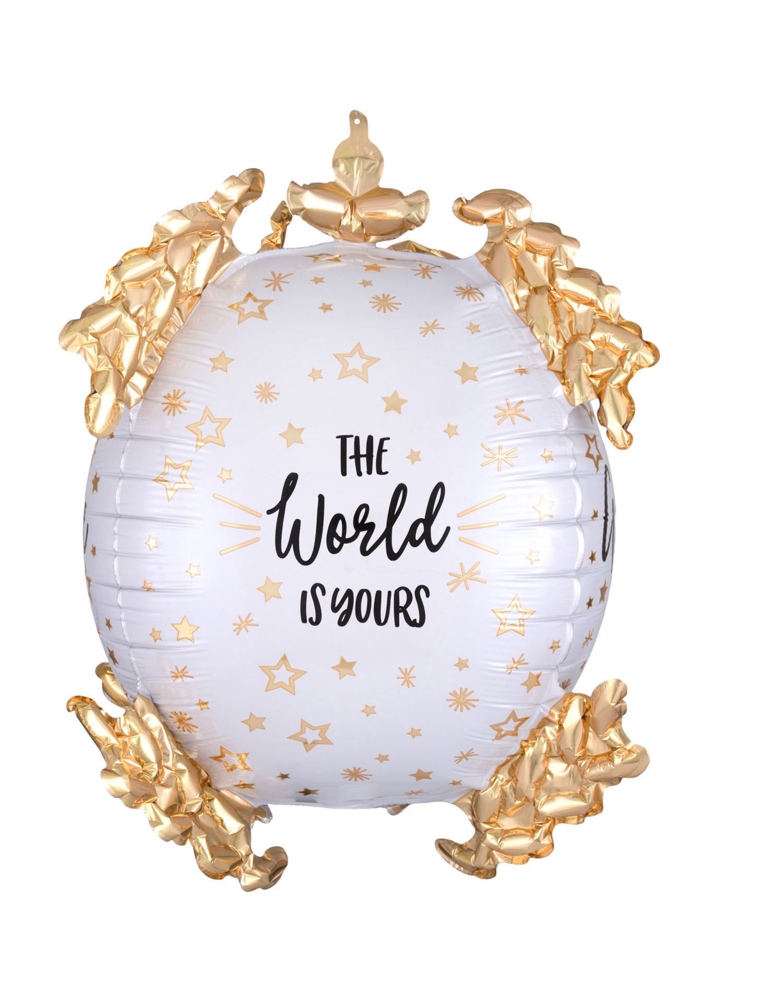 Amscan folieballon ultrashape the world is yours
